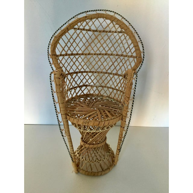 Early 21st Century Vintage Miniature Peacock Chair/ Planter For Sale - Image 5 of 5