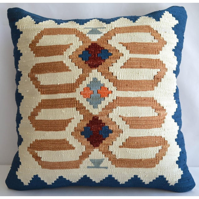 Hand Woven Silk Pillow Cover Turkish Sham With Free Insert - 16″ X 16″ For Sale In Raleigh - Image 6 of 6