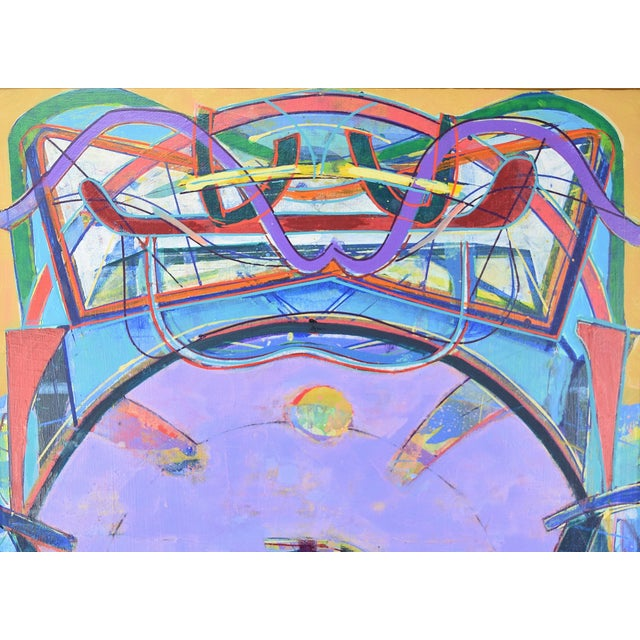 "Abstract Oil Painting ""Vessel of Light #33"" Martin Facey California Artist, 1988 For Sale - Image 5 of 10"