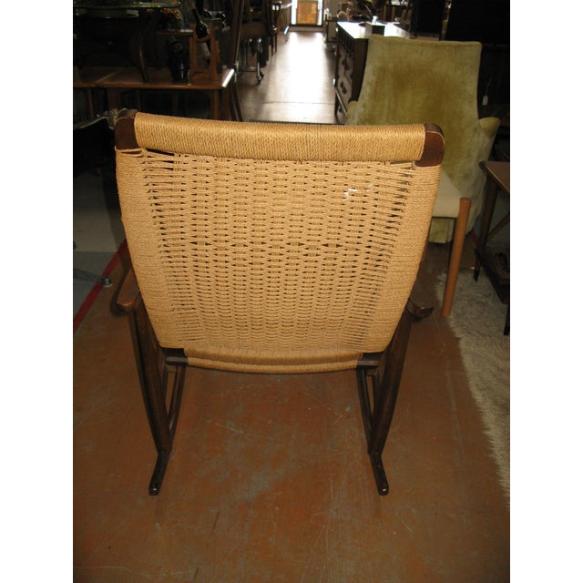 Hans Wegner Style Rope Rocking Chair - Image 5 of 8