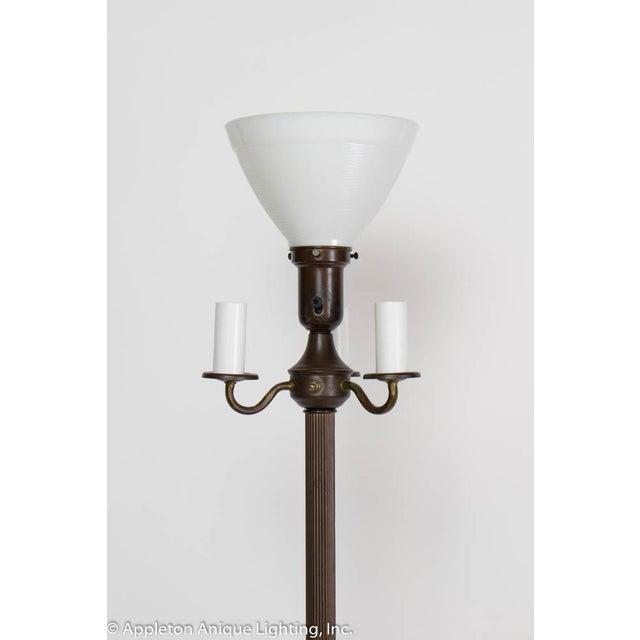 Art Deco Restored Vintage 6 Way Floor Lamp With Mica Nightlight For Sale - Image 3 of 8