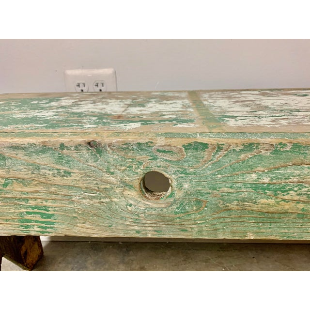 19th C. Swedish Painted Work Style Bench For Sale - Image 10 of 11