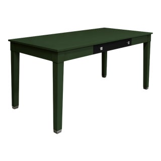 Boho Chic Garden Street Writing Desk With Contrast Drawer in Loden For Sale