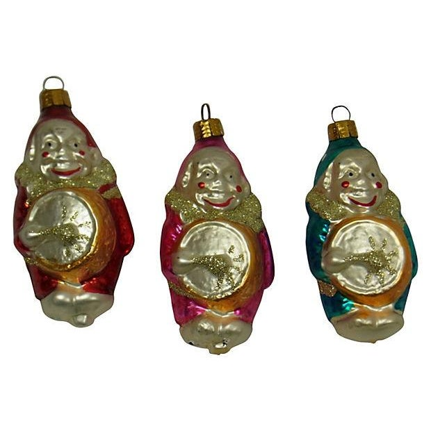 German Clown Christmas Ornaments - Set of 5 - Image 2 of 6