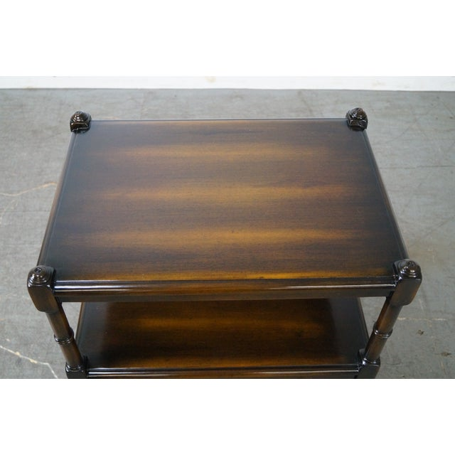 Regency-Style 2-Drawer Side Table - Image 5 of 10
