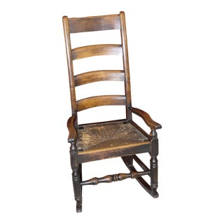 19th Century Victorian Alder Wood Rocking Chair