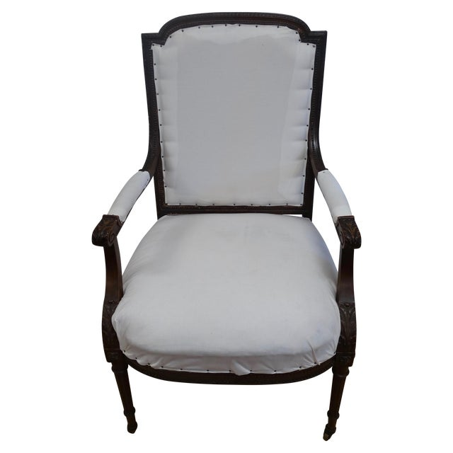 French Louis XVI Style Arm Chair - Image 1 of 4