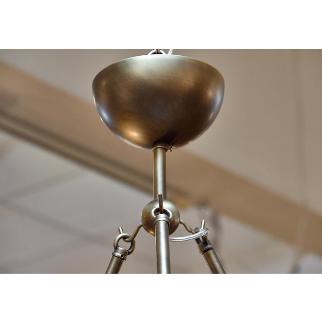 Modern Murano Glass and Bronze Chandelier For Sale - Image 3 of 9