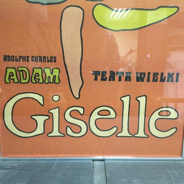 "Mid-Century Modern 1968 ""Giselle"" Ballet Poster by Jan Młodożeniec, Framed For Sale - Image 3 of 11"