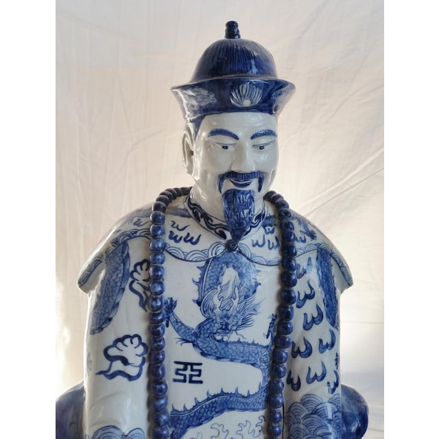 Very Large Scale Chinese Blue & White Figures - Image 7 of 9