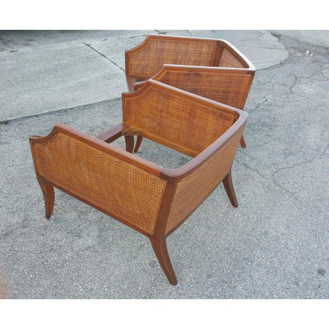 Danish Modern 1950s Danish Modern Teak Saber Leg Low Slung Lounge Chairs - a Pair For Sale - Image 3 of 11