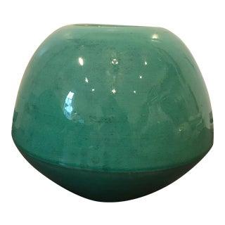 Modern Round Green Pot