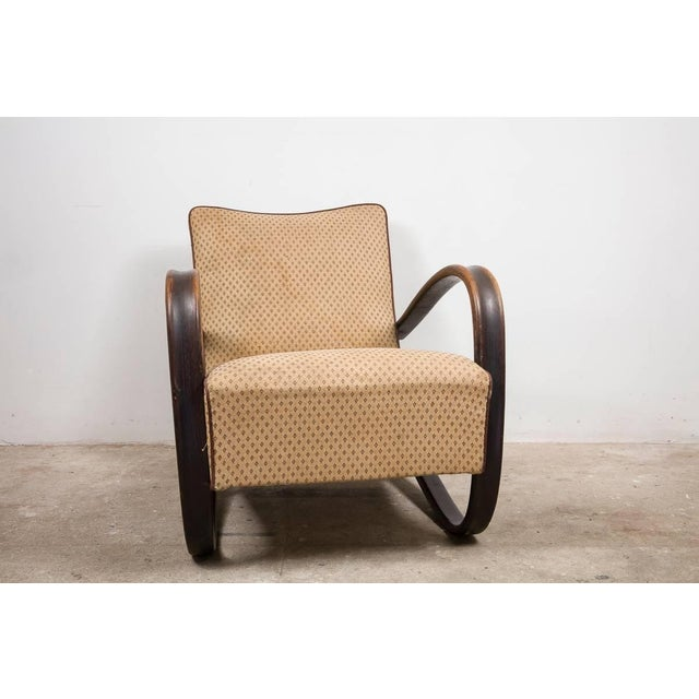 1930s Art Deco Armchairs, Set of Two, Designed by Jindrich Halabala Model H269 L For Sale - Image 5 of 6