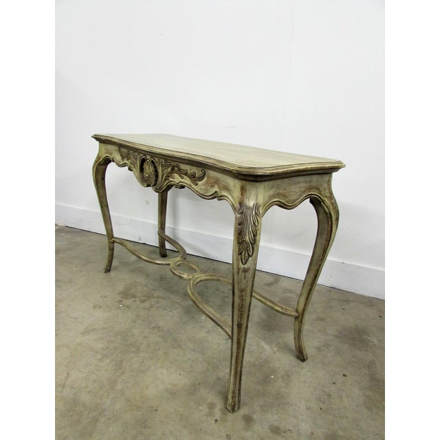 Louis XV Style Carved Wood Console Table For Sale In Raleigh - Image 6 of 7