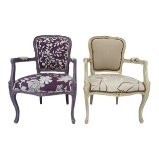 1960's Louis XV Armchairs For Sale