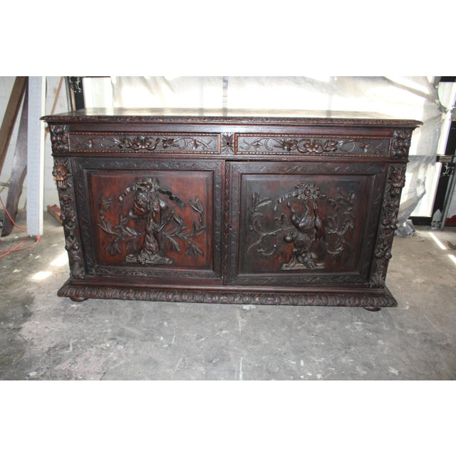 French 18th Century French Hand-Carved Sideboard For Sale - Image 3 of 8