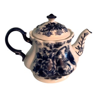 Antique Blue and White Teapot For Sale