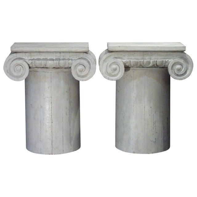 Column Pedestal Consoles - A Pair For Sale