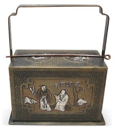 Bronze Chinoiserie 3-Tier Box For Sale