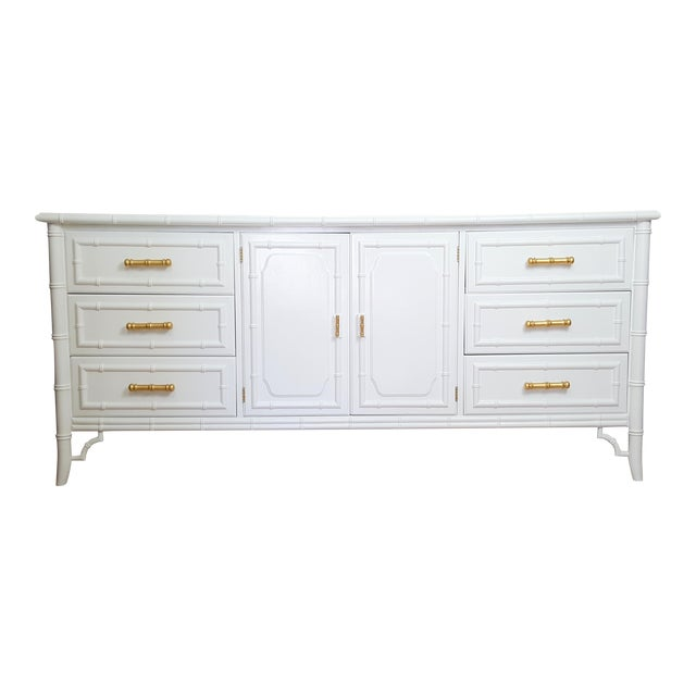 Dixie Aloha Faux Bamboo 9 Drawer Dresser For Sale