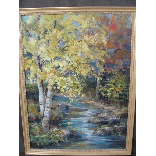 Vintage Impressionist Oil on Board Landscape Painting - Image 3 of 9