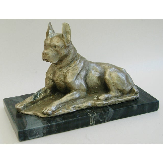 1950's Cast Metal Dog on Marble Base - Image 5 of 10