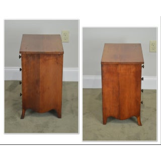 Hepplewhite Style Antique Cherry Salesman Sample Chest of Drawers Nightstand Preview