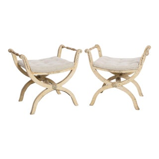Early 19th Century Gustavian Stools - a Pair For Sale