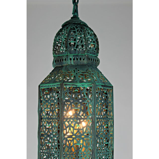 Moroccan Style Hanging Lantern For Sale In West Palm - Image 6 of 9