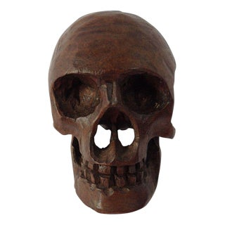 Small Anatomical Wooden Skull For Sale
