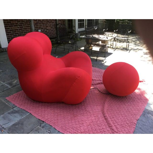 2000s B&b Italia Up Series 2000 Gaetano Pesce Chairs & Ottoman - Set of 3 For Sale - Image 5 of 13