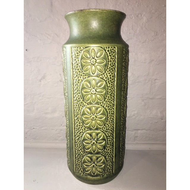 1960's Vintage West German Pottery Vase For Sale - Image 4 of 8