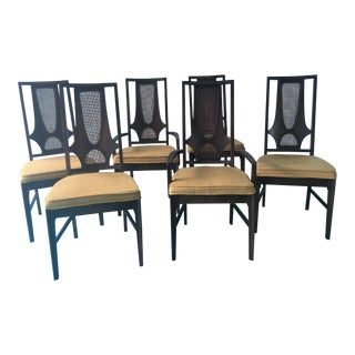 1960s Vintage Broyhill Brasilia II Dining Chair Set- 6 Pieces For Sale