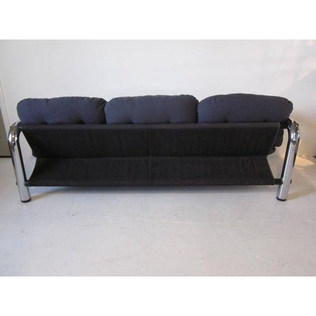 John Mascheroni Tubular Chrome Sling Sofa For Sale In Cincinnati - Image 6 of 7