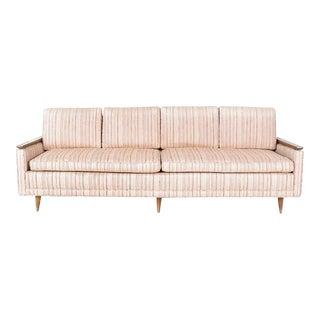 1950s Mid-Century Modern Sofa With Walnut Trim For Sale