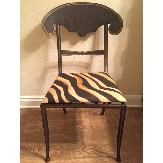 Designer Metal Accent Chair - Image 3 of 11