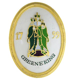 Vintage Green King English Brewery Pub Advertisement Sign