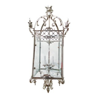 1930s French Silver Plated Lantern For Sale