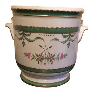 Antique Limoges France Porcelain Cachepot For Sale