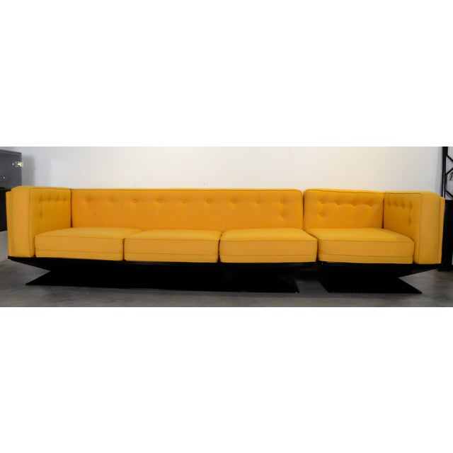 Upholstered in a New Yellow Knoll Wool MIM Roma (Ico Parisi) Sectional Sofa by Luigi Pellegrin - Image 2 of 10