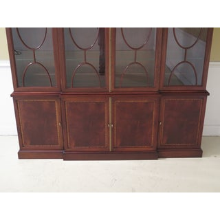 1990s Traditional Hickory Chair Co. 4 Door Mahogany Breakfront Bookcase Preview