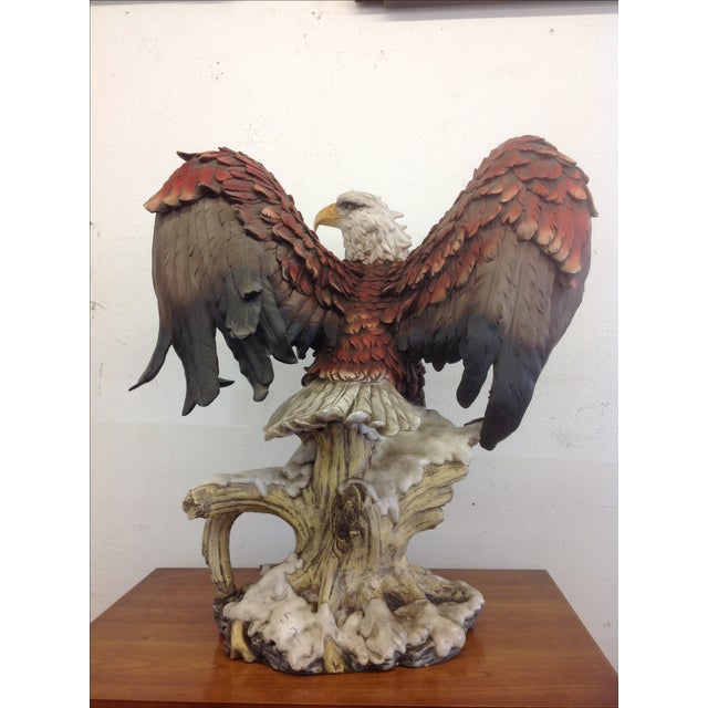 DeCapoli Collection Bald Eagle Sculpture For Sale - Image 5 of 9
