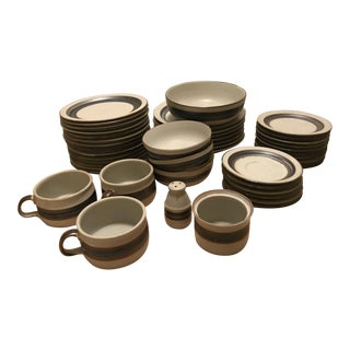 Otagiri Horizon Pattern Japanese Stoneware Serving Set