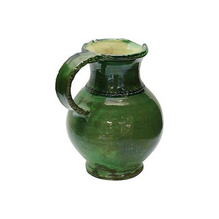 Antique French Green Glazed Water Jug Preview