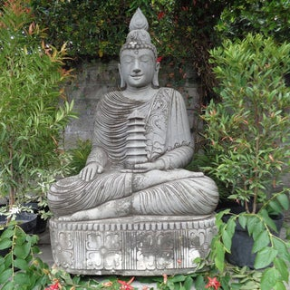 Vintage Stone Sitting Buddha Preview