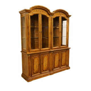 """20th Century Italian Stanley Furniture 71"""" Buffet with Lighted Display China Cabinet Preview"""