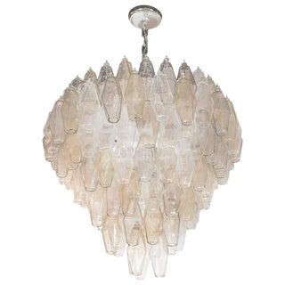 Carlo Scarpa for Venini Modernist Polyhedral Chandelier