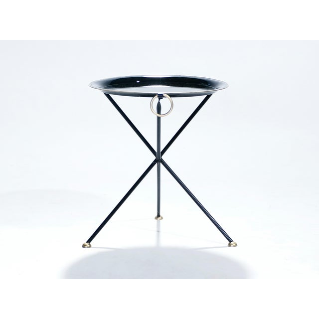 Christian Dior Signed Christian Dior Folding Side Table, 1970s For Sale - Image 4 of 11