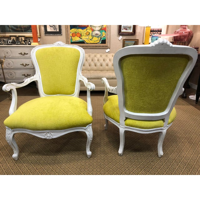 Vintage French Style Chairs- A Pair For Sale - Image 4 of 8