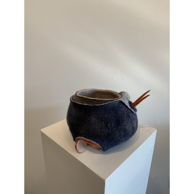 Abstract Wool Felt Sculpture For Sale - Image 10 of 13